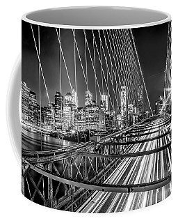 Light Trails Of Manhattan Coffee Mug