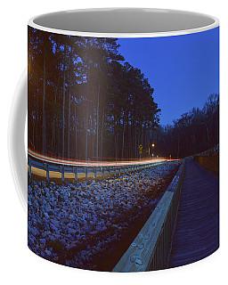 Light Trails On Elbow Road Coffee Mug