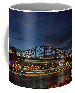 Coffee Mug featuring the photograph Light Trails On The Harbor By Kaye Menner by Kaye Menner