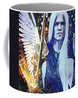Coffee Mug featuring the digital art Light Will Prevail by Suzanne Silvir