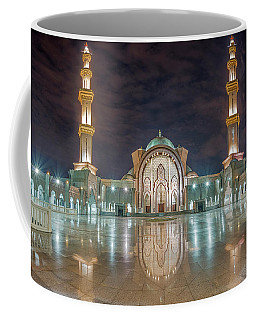 Coffee Mug featuring the photograph Lighted Federal Territory Mosque  by Pradeep Raja Prints