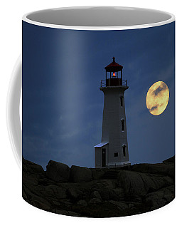 Lighthouse And Full Moon Coffee Mug