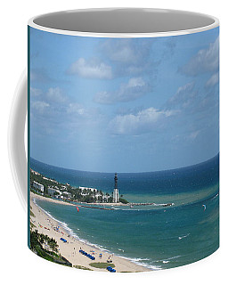 Lighthouse And Kiteboarding Coffee Mug