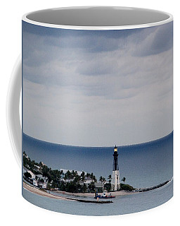 Lighthouse And Rain Clouds Coffee Mug