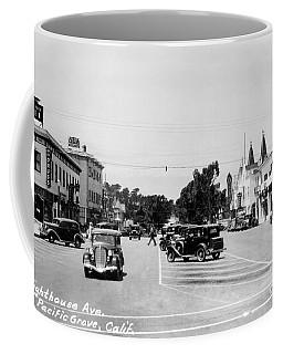 Lighthouse Avenue Downtown Pacific Grove, Calif. 1935  Coffee Mug