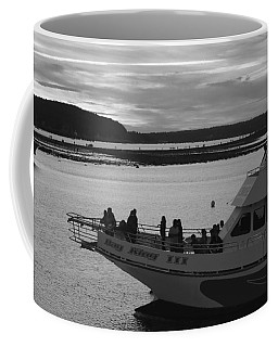 Coffee Mug featuring the photograph Lighthouse Boat by Living Color Photography Lorraine Lynch