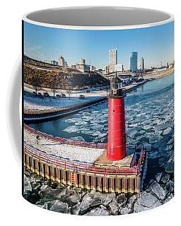 Lighthouse Cyclist Coffee Mug