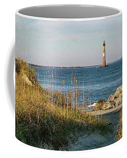 Lighthouse From Beach At Dusk Coffee Mug