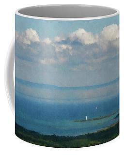 Lighthouse  From The Mountain  Coffee Mug