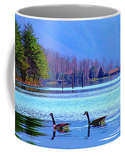 Lighthouse Geese, Smith Mountain Lake Coffee Mug