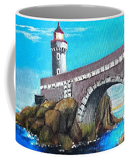 Lighthouse In Brest, France Coffee Mug by Jim Phillips