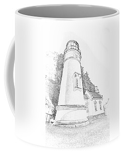 Lighthouse In Oregon Coffee Mug