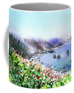 Lighthouse Landscape Watercolor Coffee Mug