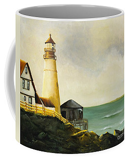 Lighthouse In Oil Coffee Mug