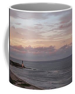 Lighthouse Peach Sunset Coffee Mug