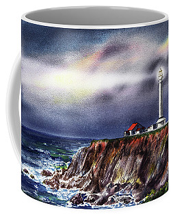Lighthouse Point Arena At Night Coffee Mug