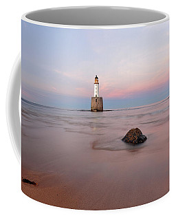 Coffee Mug featuring the photograph Lighthouse Sunset Rattray Head by Grant Glendinning