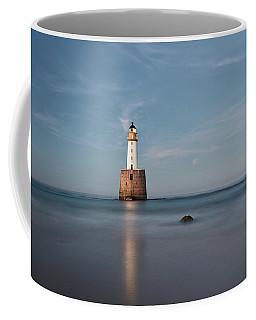 Coffee Mug featuring the photograph Lighthouse Twilight by Grant Glendinning