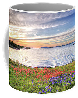 Lighthouse Sunset At Lake Buchanan Coffee Mug