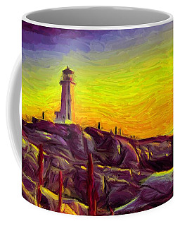 Lighthouse Sunset Coffee Mug