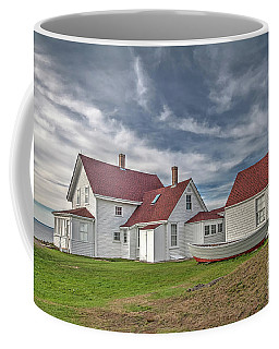 Keepers House At The Monheagn Lighthouse Coffee Mug