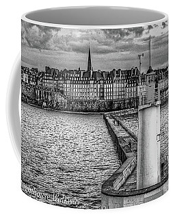 Coffee Mug featuring the photograph Lighthouse Walkway by Elf Evans