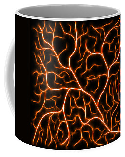 Coffee Mug featuring the digital art Lightning - Orange by Shane Bechler
