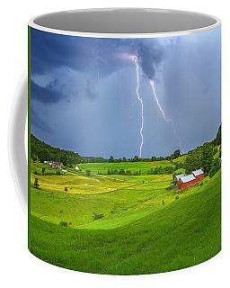 Lightning Storm Over Jenne Farm Coffee Mug
