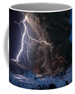 Lightning Pierces The Erupting Coffee Mug