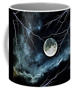 Lightning Sky At Full Moon Coffee Mug