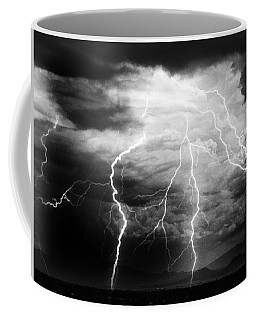 Lightning Storm Over The Plains Coffee Mug by Joseph Frank Baraba