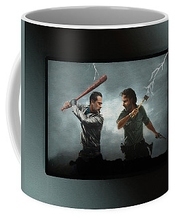 Coffee Mug featuring the painting Lightning Striking Again - Painting by Ericamaxine Price