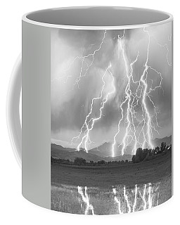 Lightning Striking Longs Peak Foothills 4cbw Coffee Mug