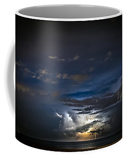 Coffee Mug featuring the photograph Lightning's Water Dance by Steven Santamour