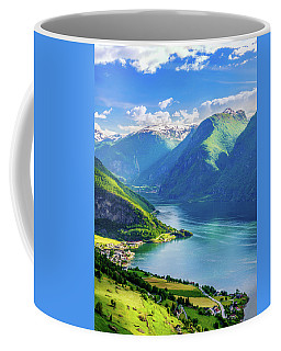 Lights And Shadows Of Sognefjord Coffee Mug