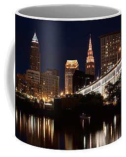 Lights In Cleveland Ohio Coffee Mug