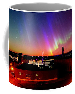 Coffee Mug featuring the photograph Lights On The Horizon by Justin Moore