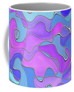 Coffee Mug featuring the digital art Lignes En Folie - 02a by Variance Collections