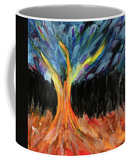 Lignum Abstracta - Tree In Abstract Coffee Mug by R Kyllo
