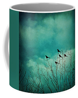 Coffee Mug featuring the photograph Like Birds On Trees by Trish Mistric