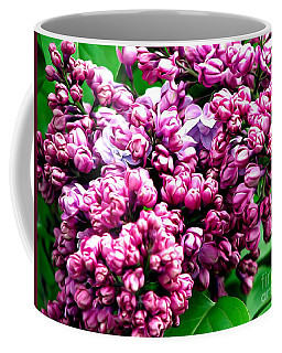 Lilac Blossoms Abstract Soft Effect 1 Coffee Mug