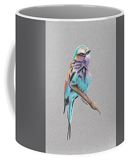 Coffee Mug featuring the drawing Lilac Breasted Roller by Gary Stamp