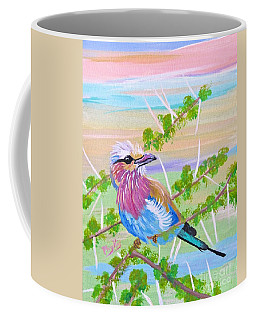 Lilac Breasted Roller In Thorn Tree Coffee Mug