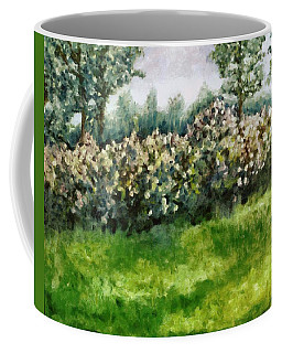 Lilac Bushes In Springtime Coffee Mug