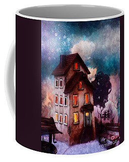 Lilac Hill Coffee Mug by Mo T