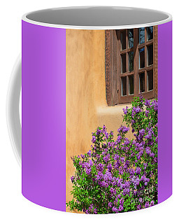 Lilacs And Adobe Coffee Mug by Catherine Sherman