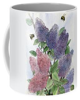 Lilacs And Bees Coffee Mug