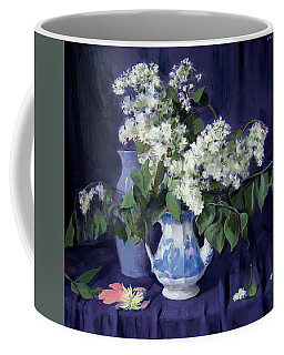 Lilacs And Blue Coffee Mug