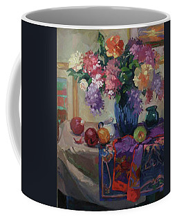 Lilacs And Peonies Coffee Mug