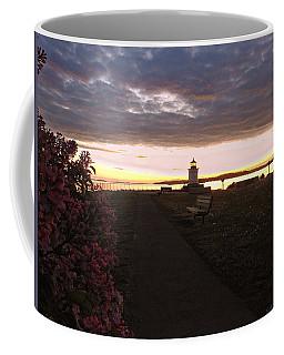 Lilacs At Portland Breakwater Light Coffee Mug